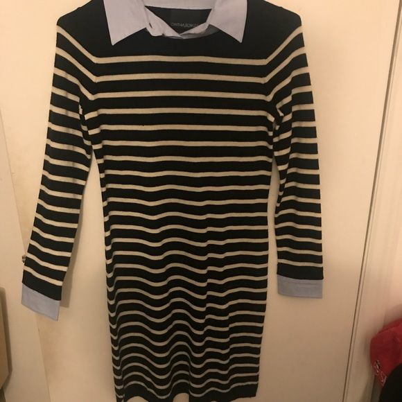6f32c440d75 Cynthia Rowley Striped Sweater Dress with Collar
